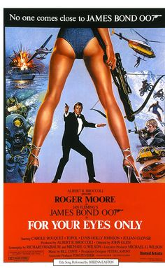 For Your Eyes Only (1981) Agent 007 is assigned to hunt for a lost British encryption device and prevent it from falling into enemy hands. Roger Moore, Carole Bouquet, Topol.  Best of the Moore Bond movies.