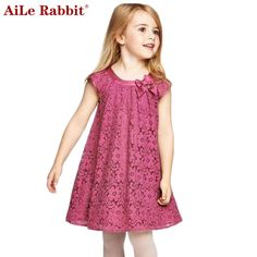 Girls Lace Dress - Free WorldWide Shipping Gender: Girls Dresses Length: Knee-Length Silhouette: A-Line Collar: O-neck Sleeve Length: Half Decoration: Bow Pattern Type: Solid Sleeve Style: Regular Style: Casual Material: Cotton,Lace Fit: Fits true to size Dress For Girl Child, Girls Lace Dress, Girls Casual Dresses, Toddler Girl Outfits, Little Girl Dresses, Baby Dress, Kids Outfits, Summer Dresses, Dress Girl