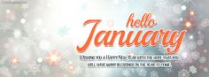 Hello January Wishing You A Happy New Year Facebook Cover coverlayout.com