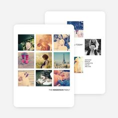 Instant Squares Holiday Photo Cards from Paper Culture
