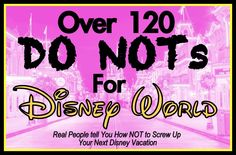 120 Walt Disney World DO NOTs: Tips From Real People on How NOT to Screw Up a Disney Vacation! (love the Disney 'fairy' idea! Disney World Tips And Tricks, Disney Tips, Disney Love, Disney Magic, Disney Secrets, Disneyland Tips, Disney Stuff, Walt Disney World Vacations, Disney World 2015