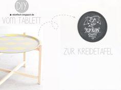 {DIY} Vom Tablett zur Kreidetafel