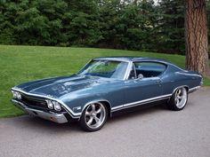 American Muscle Cars… 1968 Chevrolet Custom Chevelle 427 #chevroletimpala1968