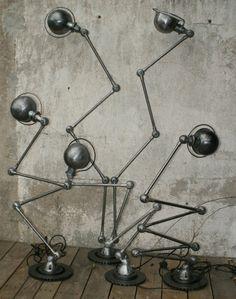 jielde loft french industrial SET JIELDE LAMPS GRAPHIT SET SET