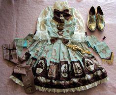 angelic pretty sweet lolita classic lolita lolita fashion musée du chocolat it has gold accents wear all the gold