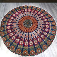 The Gypsy Wanderer Roundie Mandala with Pom-Poms                         – The Fox and The Mermaid