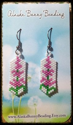 A personal favorite from my Etsy shop https://www.etsy.com/listing/268542731/small-fireweed-earrings