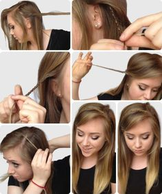6 ideas for a quick and easy hairstyle We will offer you 6 ideas of simple and fast hairstyles Hairstyles easy to do even Easy hairstyles for every day Enjoy! Hairdressing simple and fast College Hairstyles, Office Hairstyles, Super Easy Hairstyles, Pretty Hairstyles, Fast Hairstyles, Stylish Hairstyles, Haircuts, Bad Hair, Hair Day