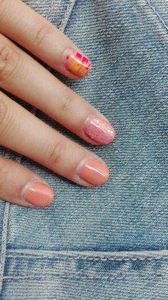 Nude orange, glamorous peach, ibiza pink & sunshine yellow