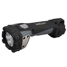 Energizer Hard Case Professional 4-LED Project Light, Black (Batteries Included). 4 bright white LEDs provide 250 lumens of light output that reach a distance of 55 Meters. Light runs for up to 10 hours on 4 AA Energizer Max Alkaline batteries (included). Water resistant makes this ideal for outdoor applications. Rugged casing made of rubber and plastic with large push button switch. Complete with shatterproof lens that survives a 2 Meter drop test, water resistant - IPX4.