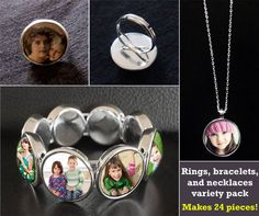 Necklaces, Bracelets, and Rings Startup Kit Makes 24 Variety Pack