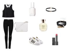 """Untitled #3"" by davidviktoria-1 on Polyvore featuring WithChic, adidas Originals, ASOS, Essie, Arquiste Parfumeur, Burberry and Furla"