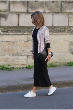 Camille / 13 avril 2015Glitter, sneakers, long skirtGlitter, sneakers, long skirt | NOHOLITA