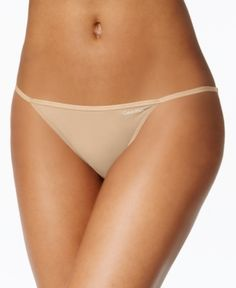 Calvin Klein Sleek String Bikini D3510 - Ivory/Cream L