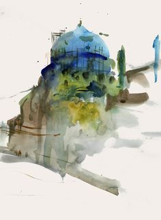 from the blog Urban Sketchers, artist is: Behzad Bagheri, one of my 3 favorite contributors to that blog