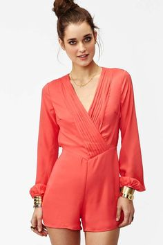 Havana Romper - Coral | Shop What's New at Nasty Gal