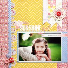 Great prices on Basic Grey Soleil for scrapbooking - featuring colorful, summer papers and embellishments with a unique prints Baby Scrapbook, Scrapbook Paper Crafts, Scrapbook Cards, Paper Crafting, Atc Cards, Card Tags, Scrapbook Page Layouts, Scrapbook Sketches, Scrapbooking Ideas