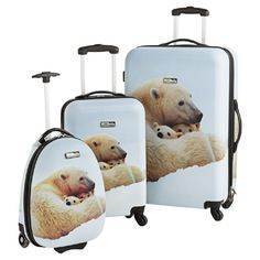 National Geographic Polar Bear Suitcase Set - This has got to be the cutest set of luggage I have ever seen for your wee ones.