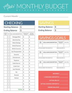 Budget Worksheet Free PrintablePdf  Important Documents