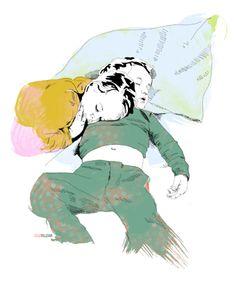 Frère & Soeur | La Belette Rose - super beautiful kid illustrations