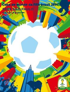 This is the official poster for Sao Paulo, one of the host cities of the 2014 FIFA World Cup Brazil™.&ltbr>&ltbr&gtThis poster design honors the bustling city life o. Fifa World Cup 2014, Brazil World Cup, Russia World Cup, Football 2018, Football Art, Football Things, Football Posters, Sports Posters, Lionel Messi