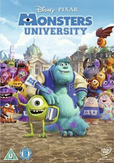 Monsters University (Blu-ray + DVD Combo) on Blu-ray from Disney / Buena Vista. Directed by Dan Scanlon. Staring Sean Hayes, Dave Foley, Helen Mirren and John Goodman. More Comedy, Fantasy and Family DVDs available @ DVD Empire. Disney Pixar, Walt Disney Movies, Disney Monsters, Film Disney, Monsters Inc, Disney Magic, Pixar Movies, Disney List, Comic Movies