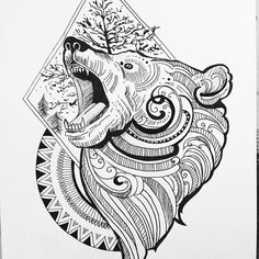 Image result for bear mandala tattoo