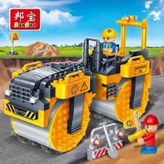 16.96$  Buy now - http://ali3o9.shopchina.info/go.php?t=32796008702 - BanBao City Educational Blocks Toys For Children Gifts Roller Cars Engineering Vehicles Urban Construction Stickers  #buychinaproducts