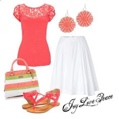 Coral Beach by audge999 on Polyvore