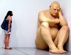 sculture iperrealiste giganti