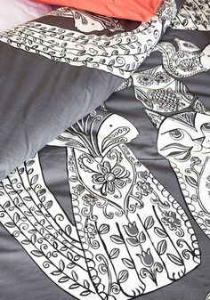 Tails Before Bedtime Duvet Cover in Full/Queen | Mod Retro Vintage Decor Accessories | ModCloth.com