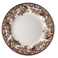 brown+and+white+thanksgiving+dinnerware | Delamere Salad Plate from Woodland Delamere Dinnerware