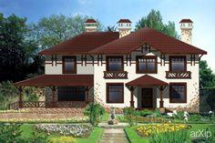 Дом «Гарднер»: архитектура, 2 эт | 6м, жилье, кантри, 300 - 500 м2, фасад - кирпич, коттедж, особняк #architecture #2fl_6m #housing #country #300_500m2 #facade_brick #cottage #mansion arXip.com