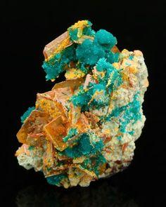 "mineralists: "" Wulfenite with Dioptase Mammoth St. Anthony Mine, Arizona """
