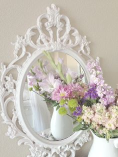 I have this mirror! I can spray paint it when we move so it better suits a co-Ed house:)
