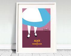 "Disney's ALICE IN WONDERLAND - movie poster: 12x16"" art print"