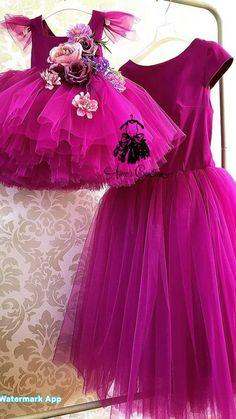 Vestidos fiusha para mama e hija