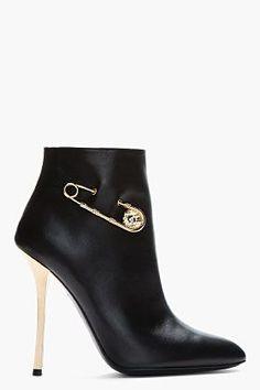VERSUS Black leather gold lbv