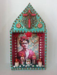 Unique Frida Kahlo in Flowers Dia De Los Muertos