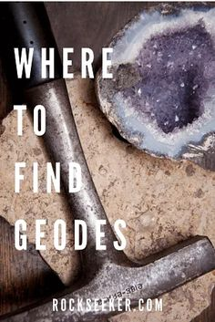 Geodes are treasured and sought after all over the world for their beautiful and brilliant crystal contents. This guide will explain all there is to know about geodes, hunting geodes, where to find geodes and even opening geodes! #Geodes #GeodeRocks #GeodeCrystals Rock Tumbling, Minerals And Gemstones, Rocks And Minerals, Raw Gemstones, Rock Hunting, Coyote Hunting, Pheasant Hunting, Archery Hunting, Deer Hunting