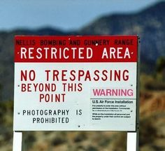 of the many signs welcoming visitors to the Area 51 Front Gate.One of the many signs welcoming visitors to the Area 51 Front Gate. A sneak peek inside Area Declassified documents offer a rare glimpse into the most secretive site on Earth Area 51 Conspiracy, Conspiracy Theories, Planeta Nibiru, Zone 51, Edwards Air Force Base, Las Vegas, Stuff To Do, Things To Do, Front Gates