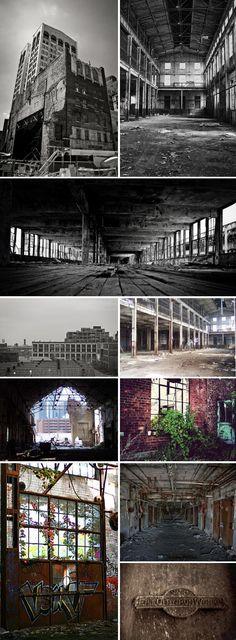 abandoned steel mill...Detroit http://pinterest.com/hamptoninnmonro/ #hamptoninnmonroeville http://www.facebook.com/#!/HamptonInnMonroeville #pittsburghhotel