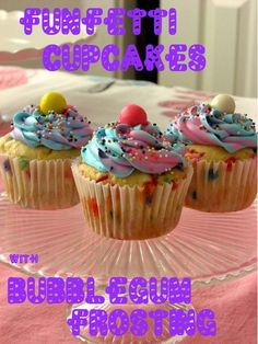 Karenna's Bday    Funfetti Cupcakes with Bubblegum Frosting recipe http://url7.org/JuX