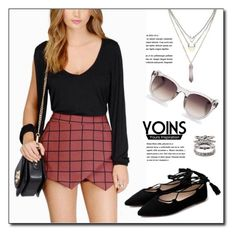 """YOINS.com"" by monmondefou ❤ liked on Polyvore featuring Linda Farrow and Forever 21"