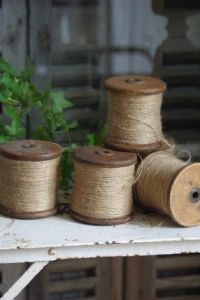 Garden jute ...   (We have similar spools at the shop now.)