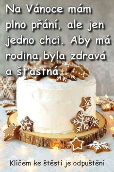 Winter Christmas, Merry Christmas, Favorite Quotes, My Favorite Things, Motto, Vanilla Cake, Birthday Cake, Santa, Desserts