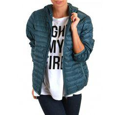 Teal Blue Puffer Jacket-STILLWATER SUPPLY CO. - Outerwear - Women
