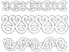 Ethnographic Arms & Armour - Yataghan/Flyssa Maori Patterns, Celtic Patterns, Celtic Designs, Diy Embroidery Patterns, Border Embroidery Designs, Quilt Patterns, Motifs Islamiques, Mandala Coloring Pages, Celtic Art