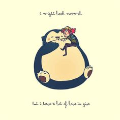 Snorlax love #pokemon