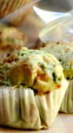 Perfect make ahead savory muffins filled with vegetables and cheese. This would make a great snack or pack for lunch treat everyone will fight over.